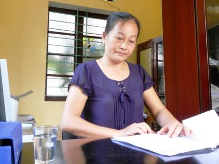 Cô Phạm Thị Tráng, Hiệu phó trường THCS Hoằng Hà.